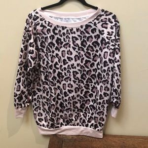 Cheetah Print Silky Stretch Top